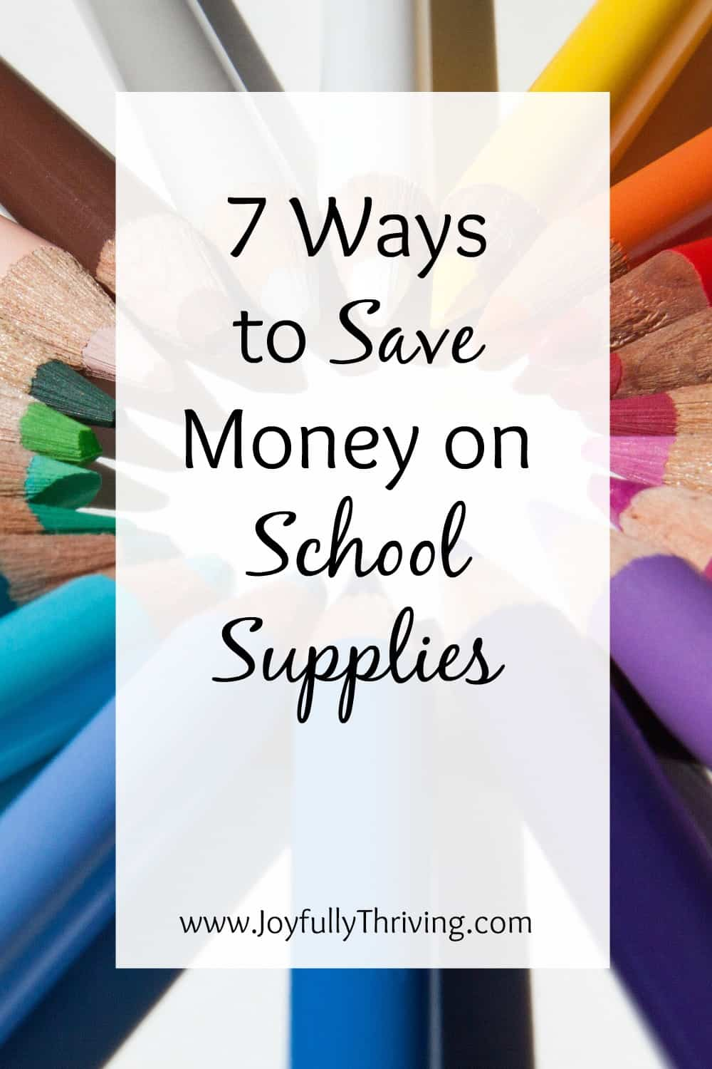 It's almost back to school time, and this list has 7 quick ways to save money on school supplies. It's a great help for all Moms!