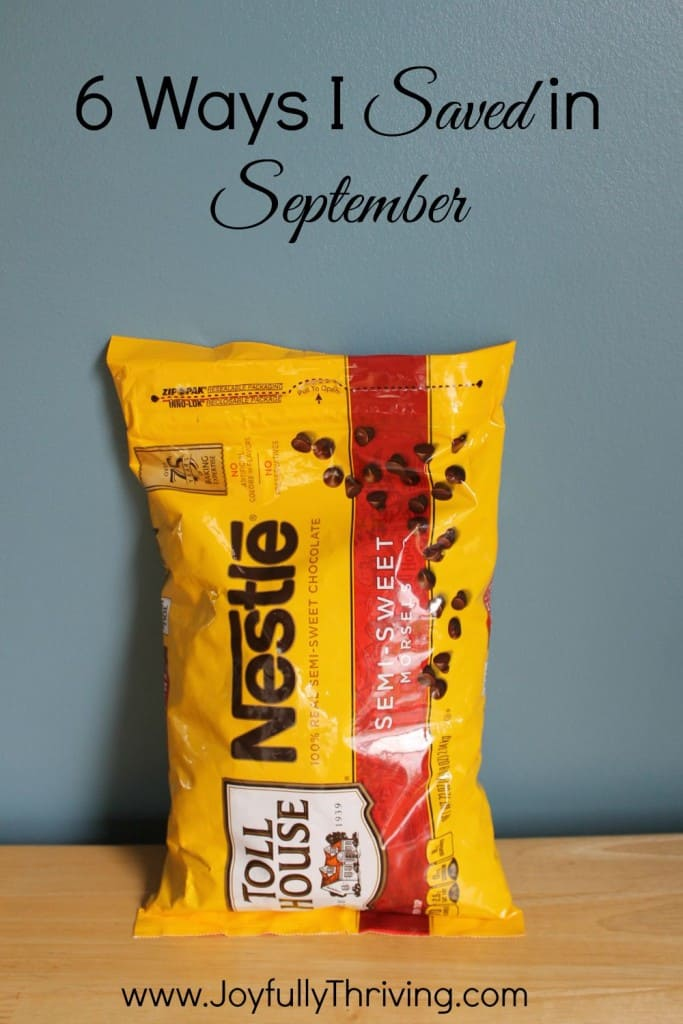 6 Ways I Saved in September...Because every little bit counts!