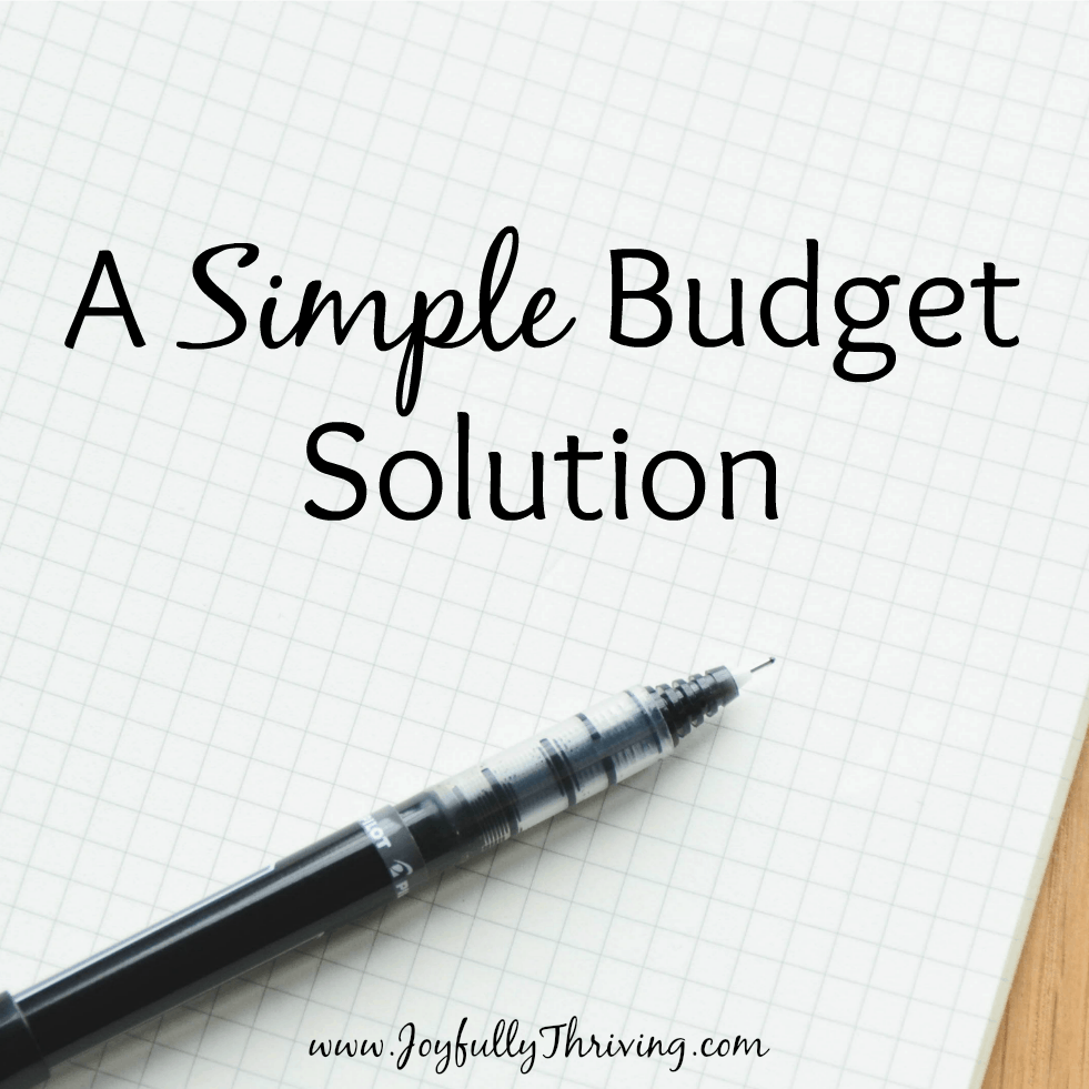 A Simple Budget Solution Square