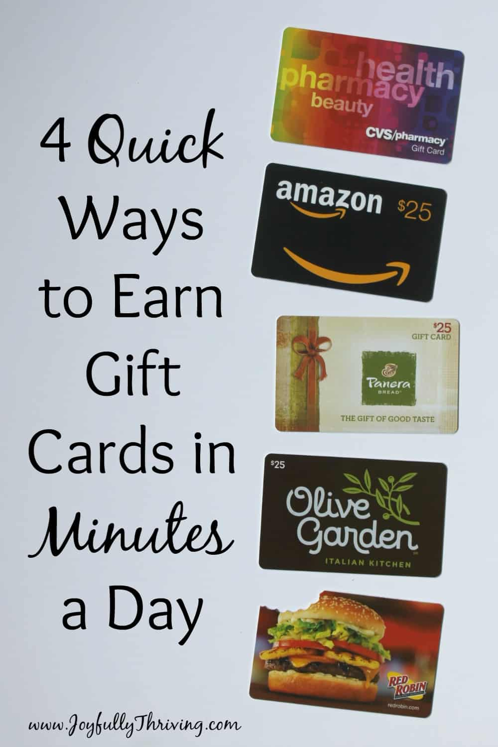 I love getting free gift cards! Great list of ideas that really work, and really do earn gift cards. Number 4 is my new favorite.