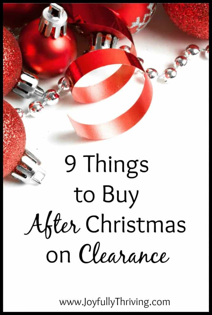 9 Things to Buy AFTER Christmas on Clearance - You can save SO much money if you look for these items to be marked down after Christmas.