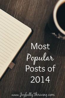Most Popular Posts of 2014