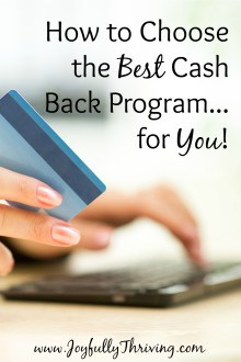 How to Choose the Best Cash Back Program - THere are so many cash back programs available today but here are a couple of the best ones, along with how to choose the one that will save you the most money!