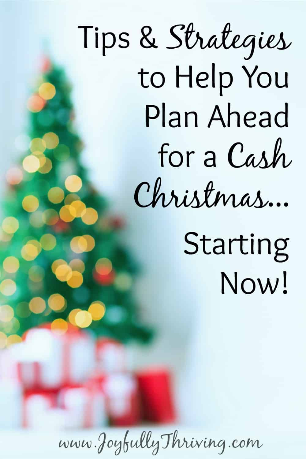 Plan Ahead for a Cash Christmas...Starting Now!