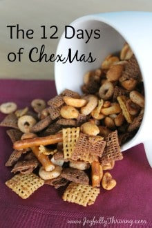 The 12 Days of ChexMas - Looking for a unique and frugal gift idea Try making 12 different Chex Mix recipes as a gift. Includes a free printable!
