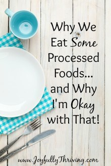 Why We Eat Some Processed Foods & Why I'm Okay with That - I know some moms cook everything from scratch but as much as I love to cook, I'm also a realist. Here's our food approach.