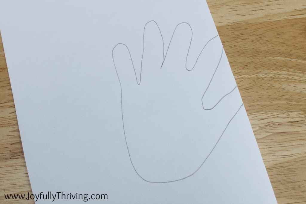 How to make a hand print heart.