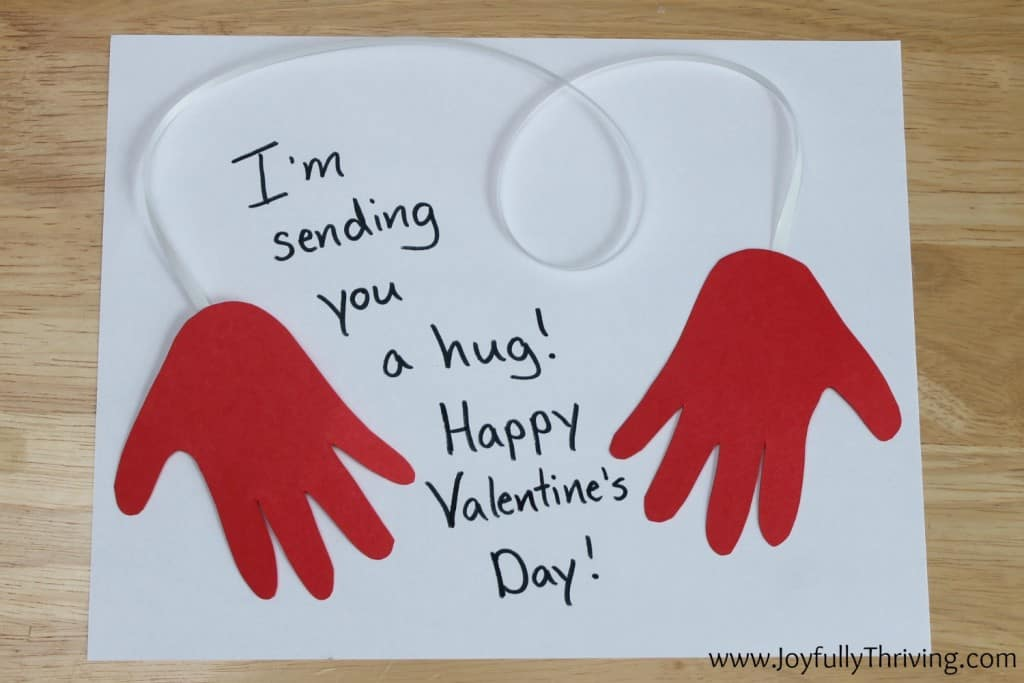 Sending you a hug - Cute and quick hand print project!