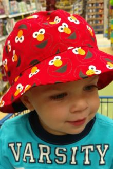 Nathan in Elmo Hat at Meijer
