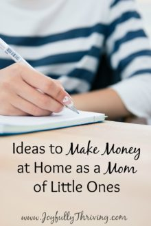 Ideas to Make Money at Home as a Mom of Little Ones - If you are a with little kids who wants to earn extra money for your family, here are some ideas!
