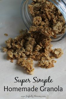 Super Simple Homemade Granola with Chunks