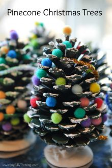 Pine Cone Christmas Trees - Such a cute and simple Christmas project for kids! What a fun Christmas idea!