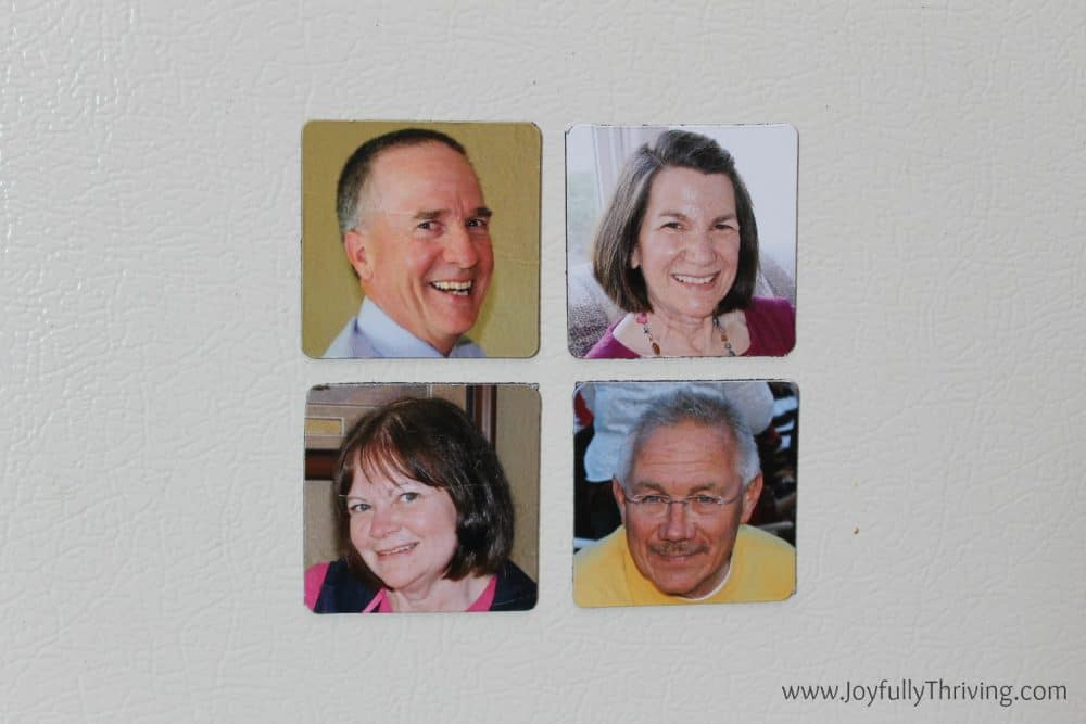 DIY Family Magnets - What a great way to recognize family members!