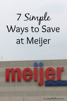 I love Meijer for all the money it saves me! And all these ways really are simple ways to save at Meijer.