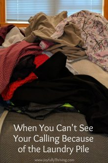 When You Can't See Your Calling Because of the Laundry Pile