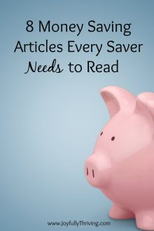 8 Money Saving Articles Every Saver Needs to Read - Great advice here!