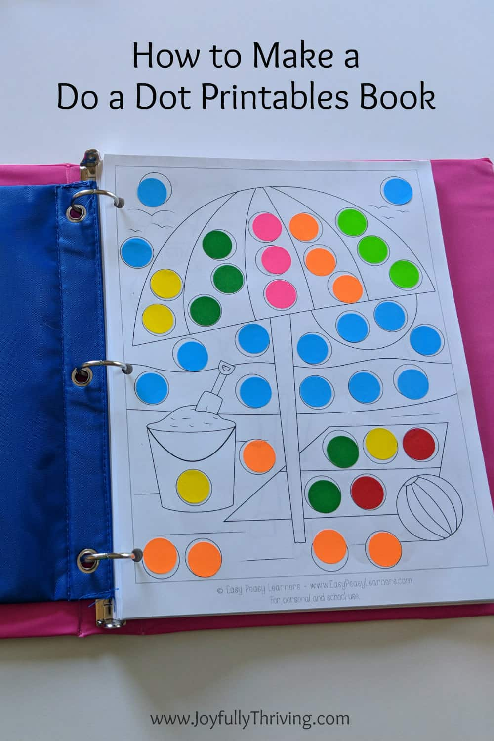 How to Make a Do a Dot Printables Book