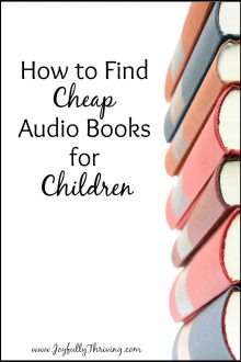 Love this idea for getting audio books for kids! Here's a great list of how to find cheap audio books for children.